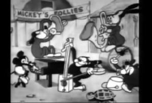 フォーリーズで演奏するミッキーたち