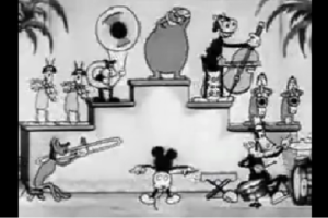 ミッキーと仲間たちによるバンド演奏