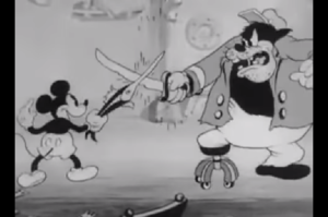 ピート船長と戦うミッキー