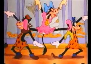 ダンスを披露するグーフィーとホーレスとクララベル