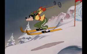 スラロームを滑るグーフィー