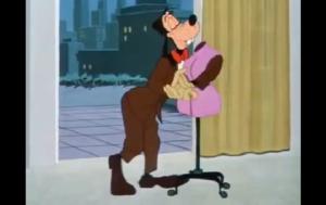 トルソーをパートナーにしてダンスをするグーフィー