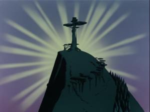「丘の上の一本の木」より、後光がさす木。